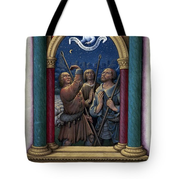 Annunciation To Shepherds Tote Bag by Granger