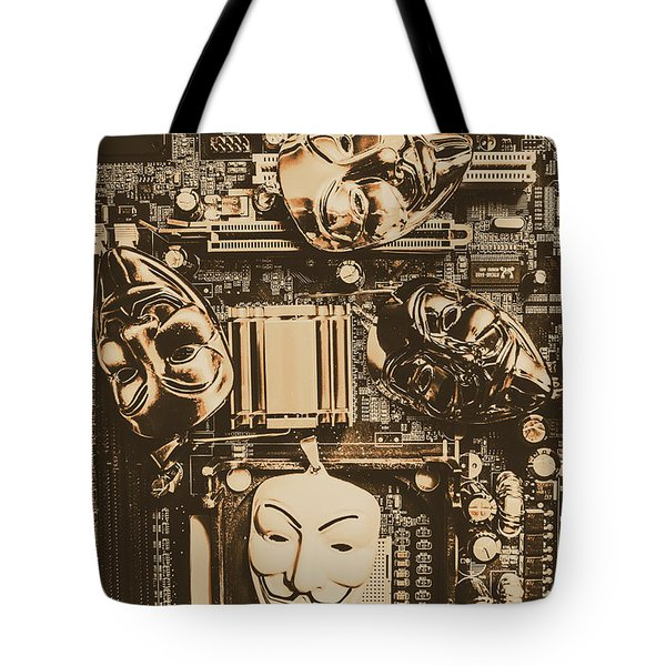Anonymous Cyber Masks Tote Bag