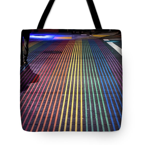 Tote Bag featuring the photograph anonymous in the Castro  by Stephen Holst