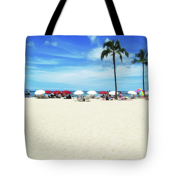 Another Beautiful Day In Waikiki Tote Bag by Kerri Ligatich