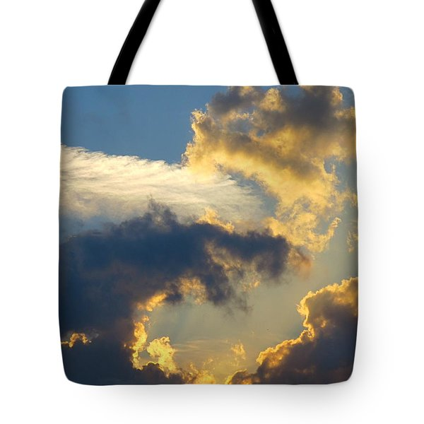 Another Beautiful Grouping Of Florida Clouds At Sunset.  Tote Bag