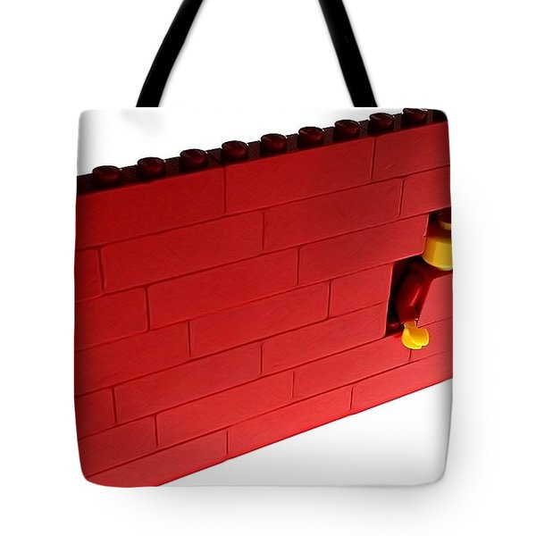 Tote Bag featuring the photograph Another Brick In The Wall by Mark Fuller