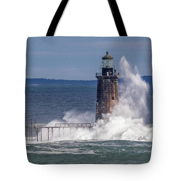 Tote Bag featuring the photograph Another Day - Another Wave by Darryl Hendricks