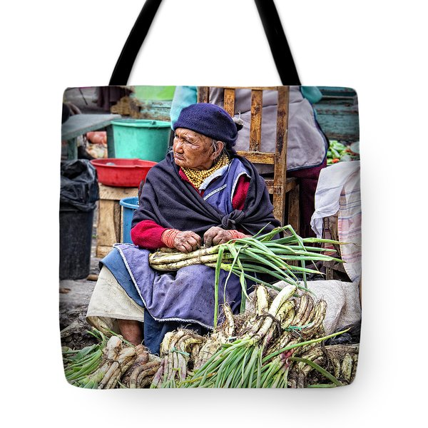 Another Day At The Market Tote Bag