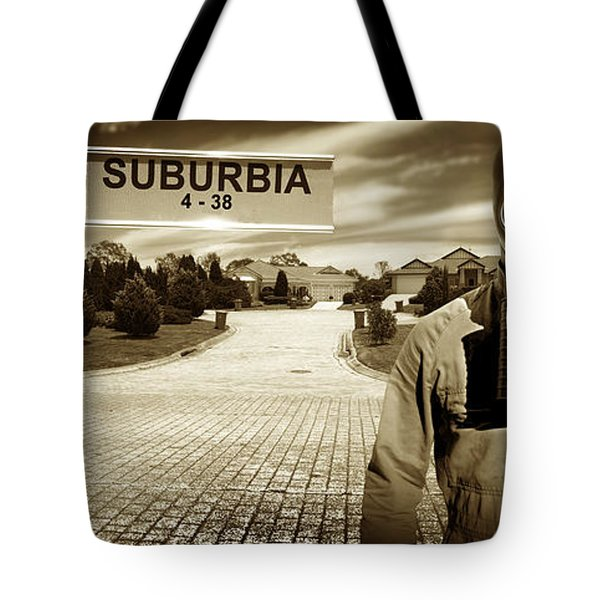 Another Day In Suburbia Tote Bag