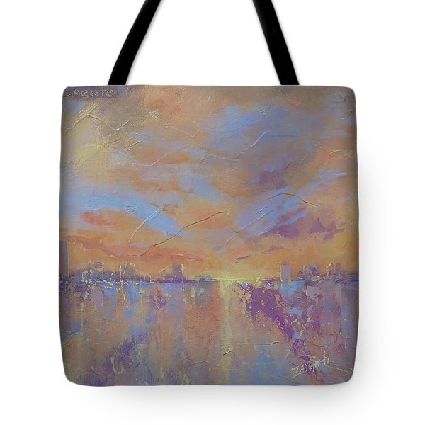 Tote Bag featuring the painting Another Dimension by Laura Lee Zanghetti