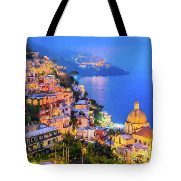 Another Glowing Evening In Positano Tote Bag