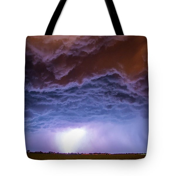 Another Impressive Nebraska Night Thunderstorm 007 Tote Bag