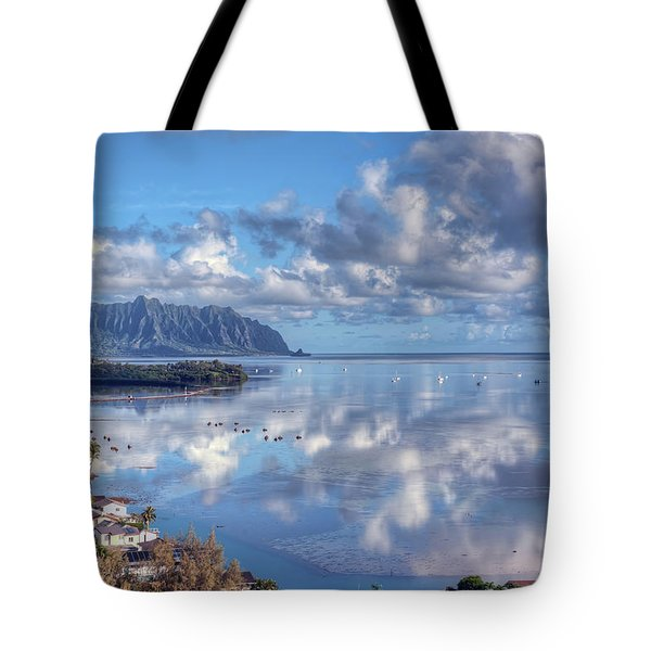 Another Kaneohe Morning Tote Bag by Dan McManus