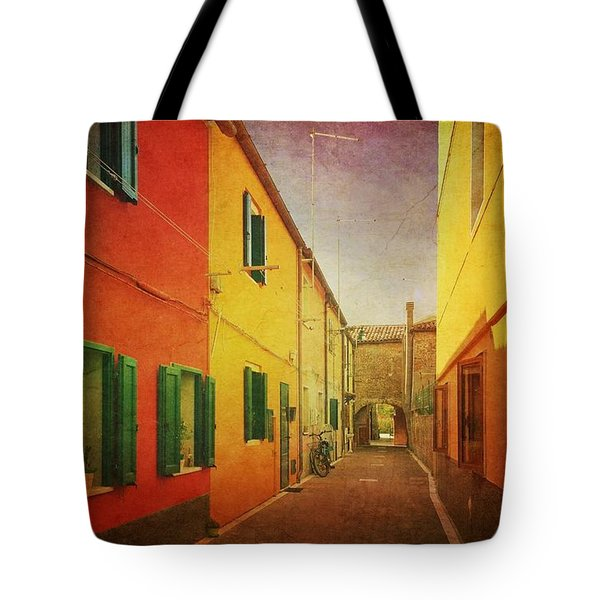 Tote Bag featuring the photograph Another Morning In Malamocco by Anne Kotan