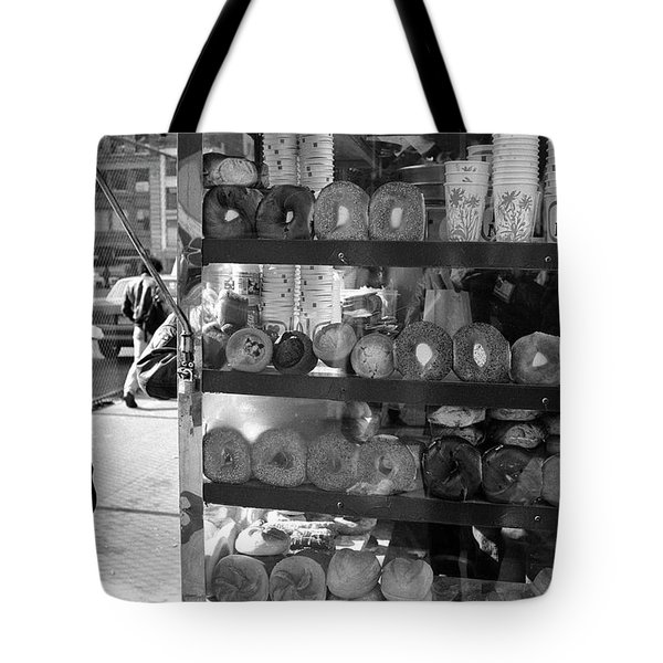 Tote Bag featuring the photograph Another  Nyc  Breakfast by Dave Beckerman