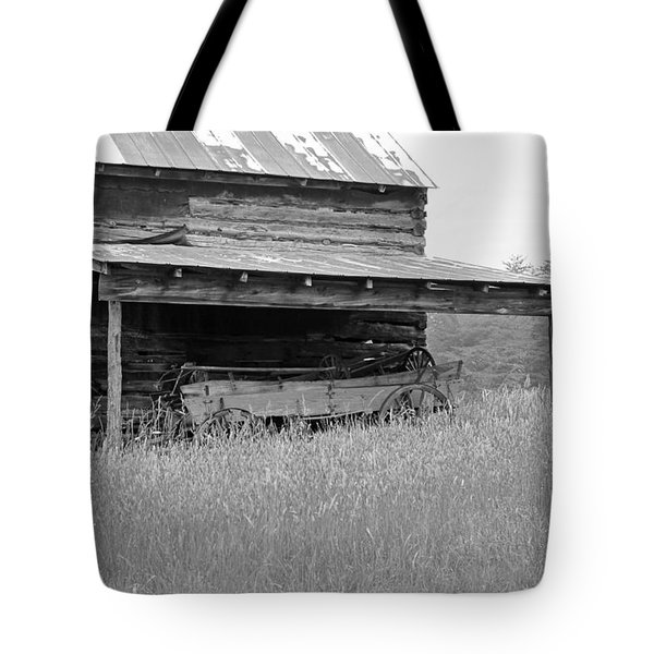 Another Time -- Black And White Tote Bag by Suzanne Gaff