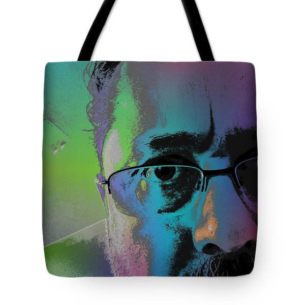 Tote Bag featuring the digital art Anothercolor by Jeff Iverson