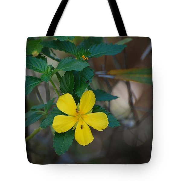 Ant Flowers Tote Bag by Rob Hans