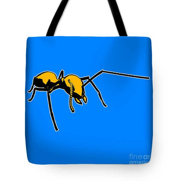 Ant Graphic  Tote Bag by Pixel  Chimp