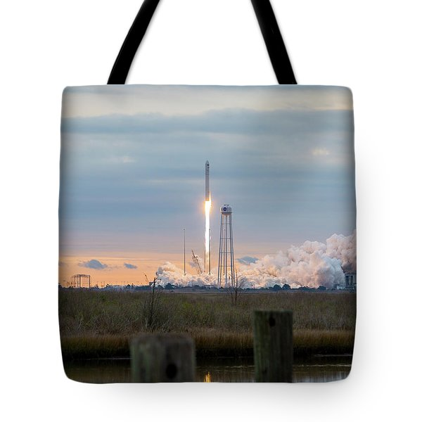 Antares Launch From Wallops Island Tote Bag