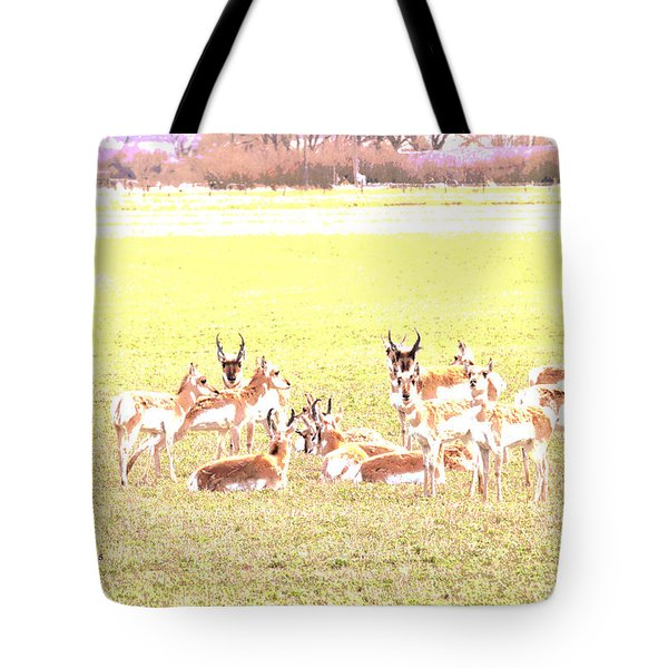 Tote Bag featuring the digital art Antelope As Painting by Kae Cheatham