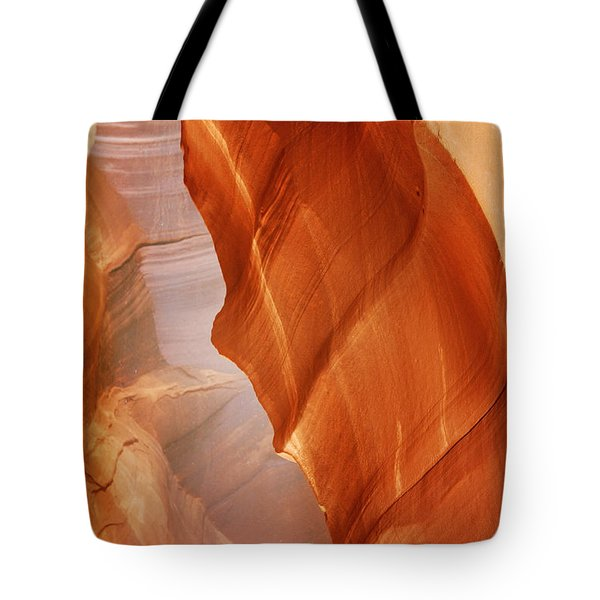 Antelope Canyon - Arizona's Sandstone Cathedral Tote Bag by Christine Till