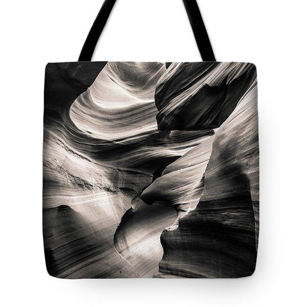Antelope Canyon Bw Tote Bag