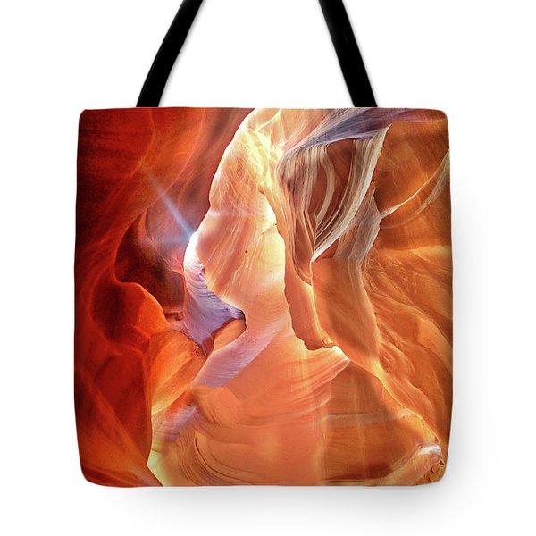 Antelope Canyon Light Tote Bag by Lorella Schoales