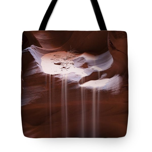 Antelope Canyon Sand Stream Tote Bag by Sandra Bronstein