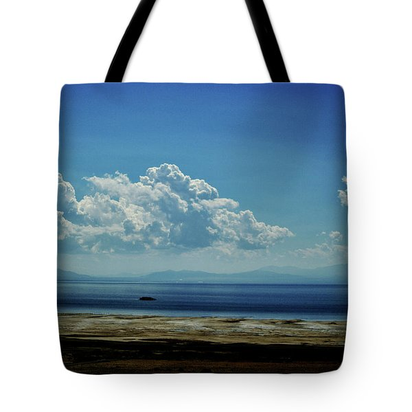Tote Bag featuring the photograph Antelope Island, Utah by Cynthia Powell
