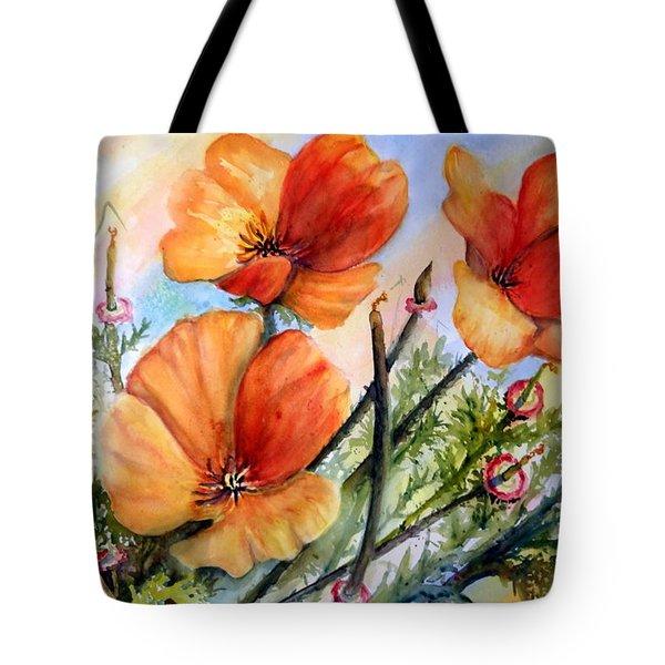 Antelope Valley Poppy Fields Tote Bag