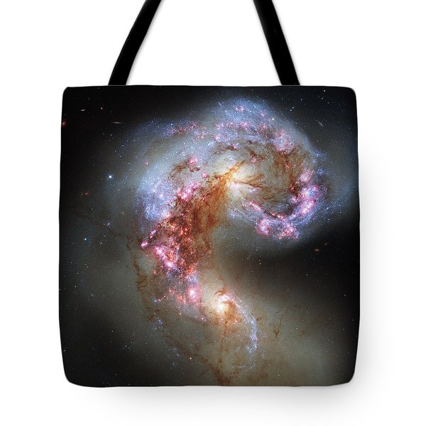 Tote Bag featuring the photograph Antennae Galaxies Reloaded by Nasa