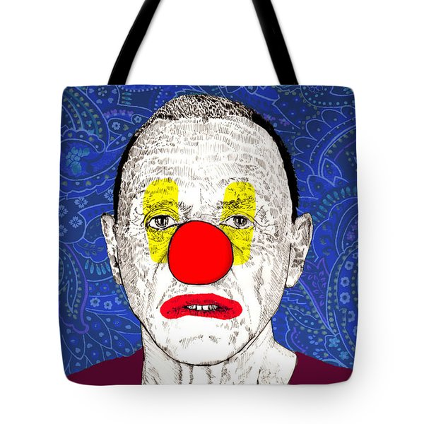 Tote Bag featuring the drawing Anthony Hopkins by Jason Tricktop Matthews