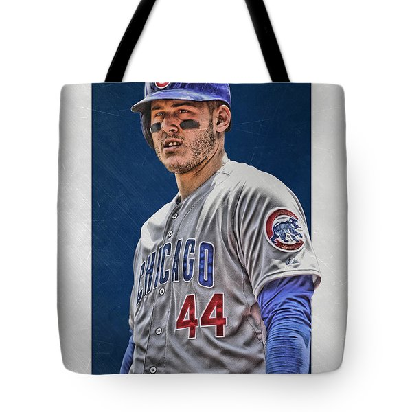 Anthony Rizzo Chicago Cubs 3 Tote Bag
