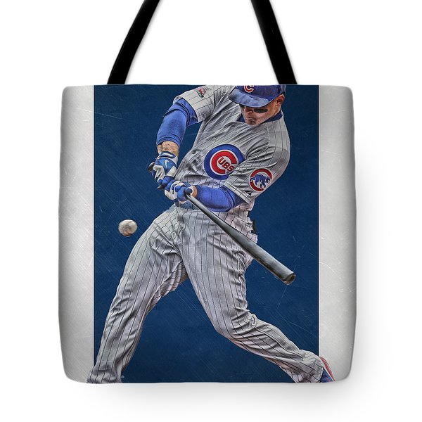 Anthony Rizzo Chicago Cubs Art 1 Tote Bag by Joe Hamilton