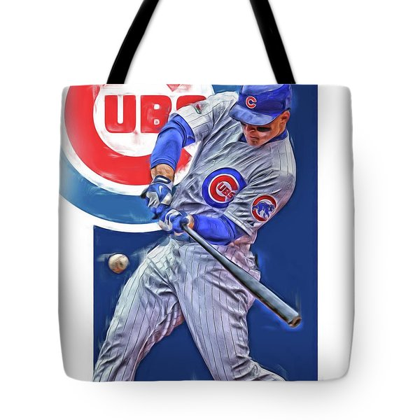 Anthony Rizzo Chicago Cubs Oil Art Tote Bag