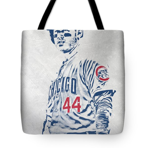 Anthony Rizzo Chicago Cubs Pixel Art Tote Bag