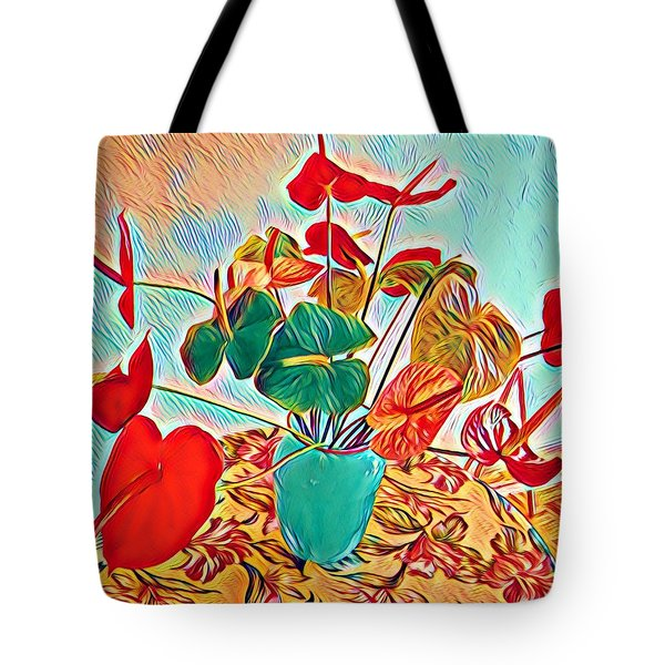 Anthurium Bouquet Of The Day - Multiple Color Tote Bag