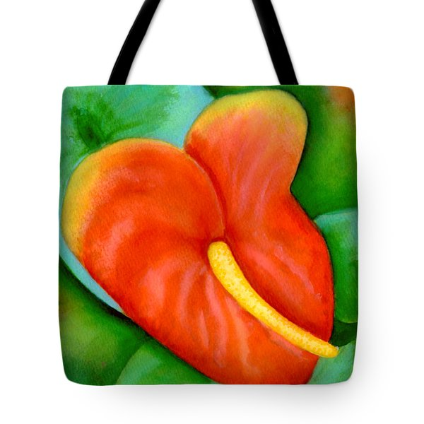Anthurium Flowers #228 Tote Bag by Donald k Hall