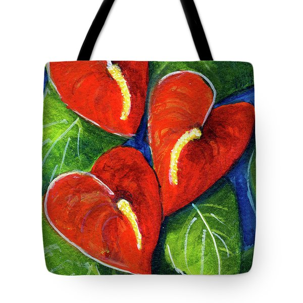 Anthurium Flowers #272 Tote Bag by Donald k Hall