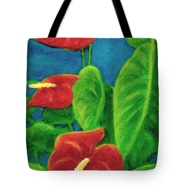Anthurium Flowers #296 Tote Bag by Donald k Hall