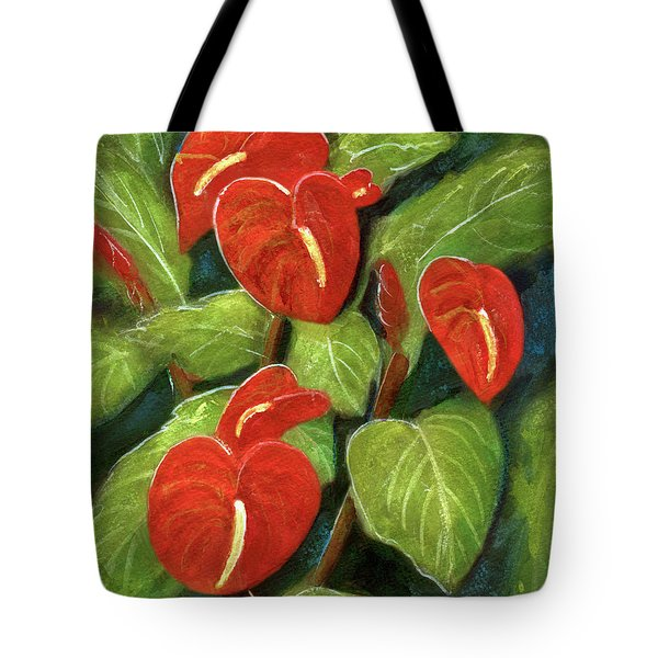 Anthurium Flowers #231 Tote Bag by Donald k Hall