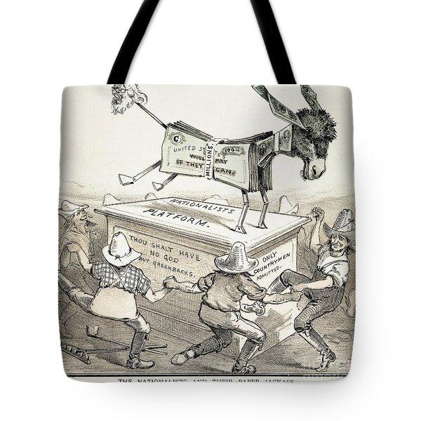 Anti-greenback Cartoon Tote Bag by Granger