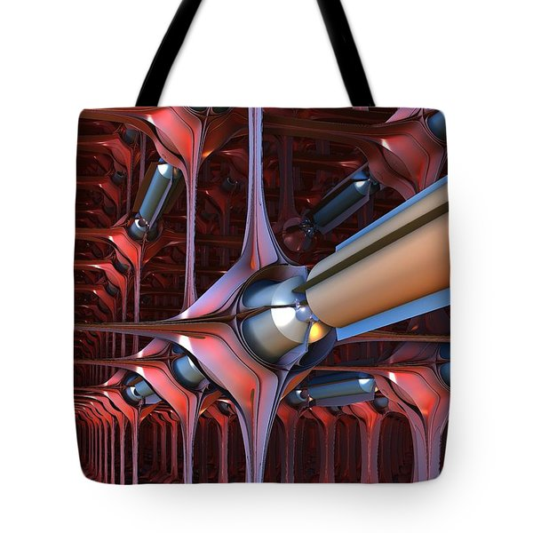 Anti-matter Tubes Tote Bag