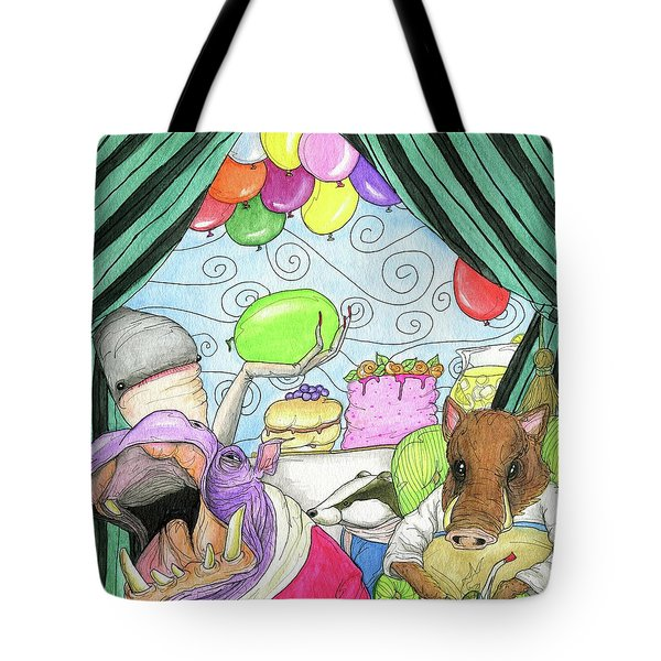 Anti Social Warthog Throws A Party Tote Bag