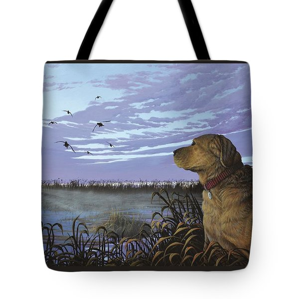 On Watch - Yellow Lab Tote Bag