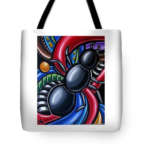 Antics - Abstract Ant Painting - Chromatic Acrylic Art - Ai P. Nilson Tote Bag