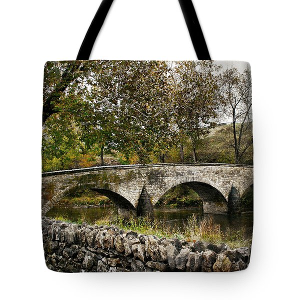 Burnside's Bridge Over Antietam Creek Tote Bag