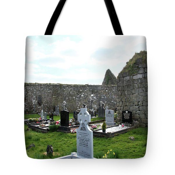 Tote Bag featuring the photograph Antigua Iglesia De Killinaboy, Ireland by Marie Leslie