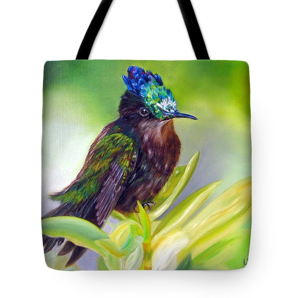 Antillean Crested Hummingbird Tote Bag