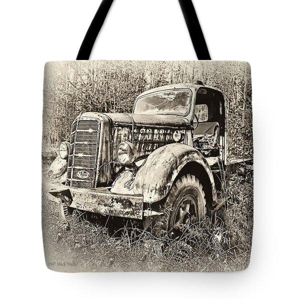 Antique 1947 Mack Truck Tote Bag by Mark Allen