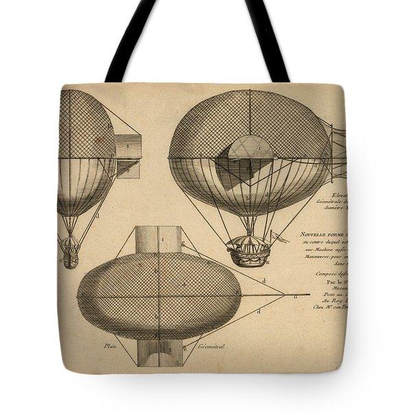 Antique Aeronautics Tote Bag