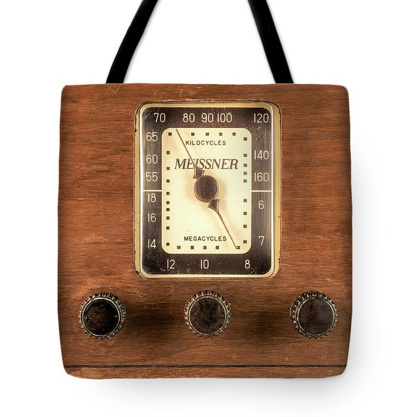 Antique Radio Tote Bag