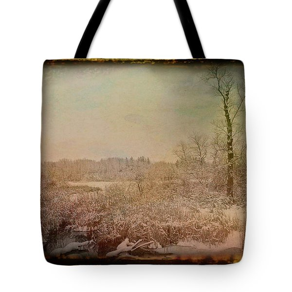 Tote Bag featuring the photograph Antique Amber Winters Glory by Aimee L Maher Photography and Art Visit ALMGallerydotcom